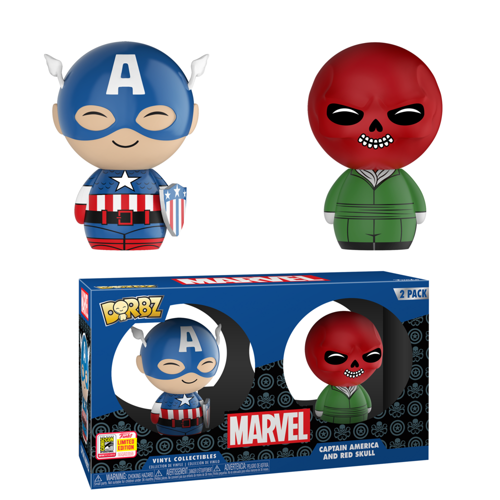 Dorbz: Marvel - Captain America & Red Skull 2-pack