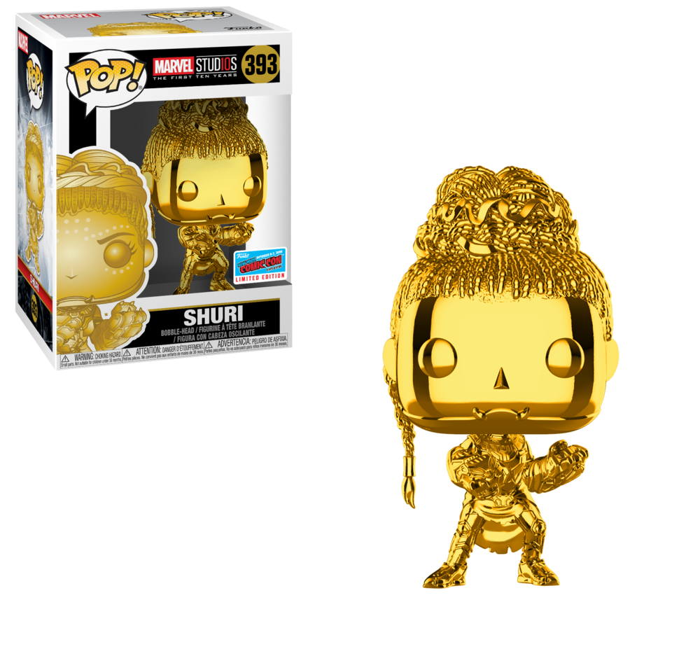 Pop! Marvel: MS 10 - Shuri (Chrome) (GameStop/ EB Games)