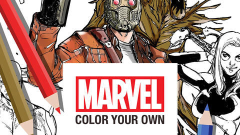 Image for Bring Your Own Unique Style to the Marvel Universe with Marvel: Color Your Own