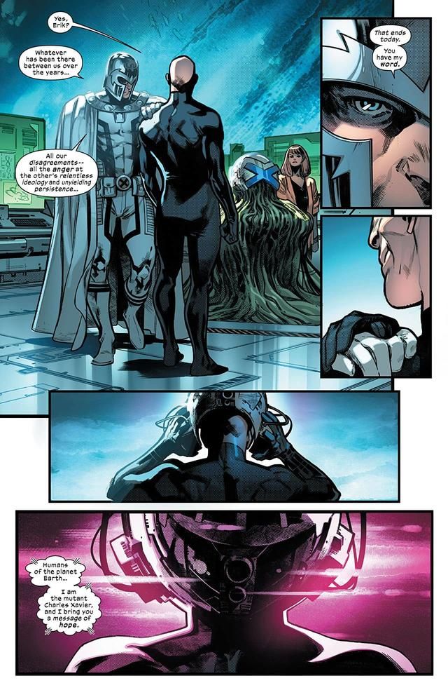 HOUSE OF X #6 page two by Pepe Larraz, Marte Gracia, David Curiel, and VC's Clayton Cowles
