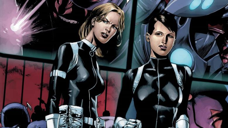 Sharon Carter and Maria Hill