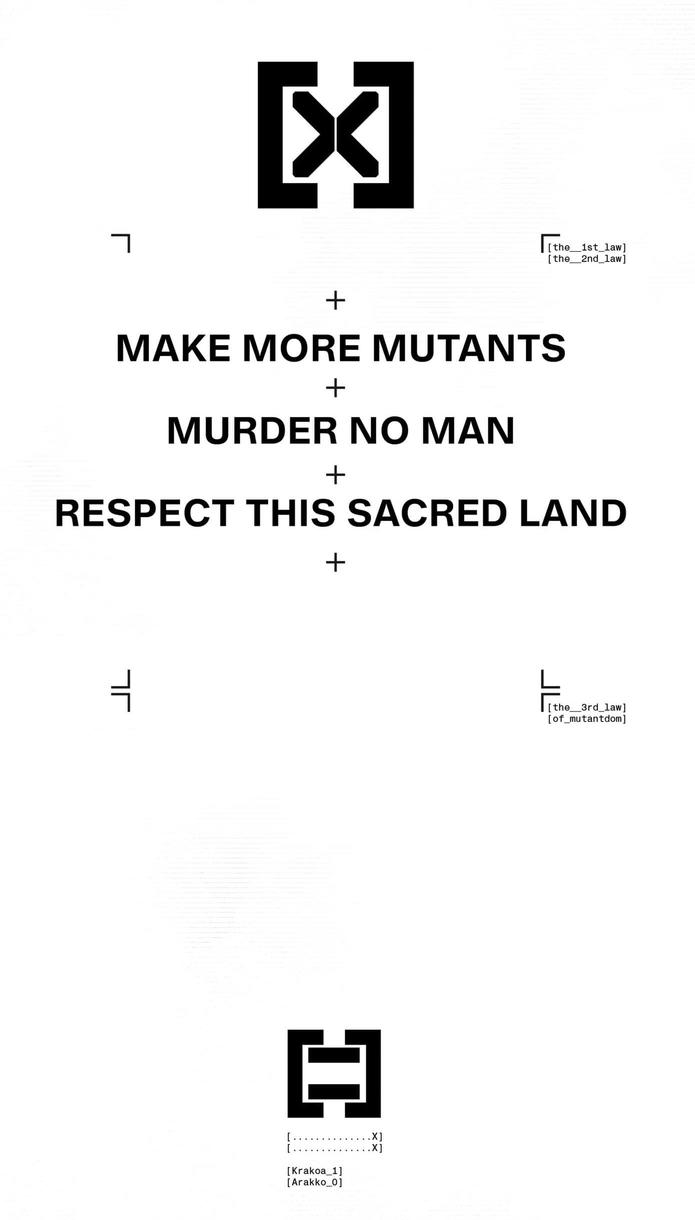 3 Laws of Mutantkind
