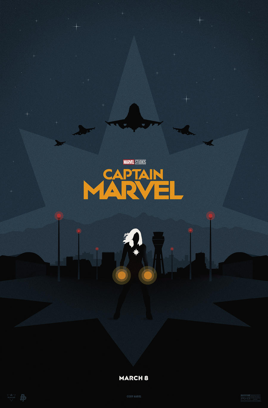 Captain Marvel Poster Art by Eileen Steinbach