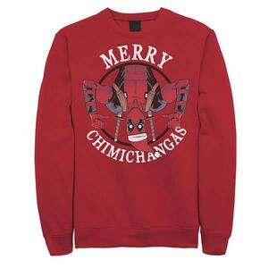 Deadpool Merry Chimichangas Fleece Pullover