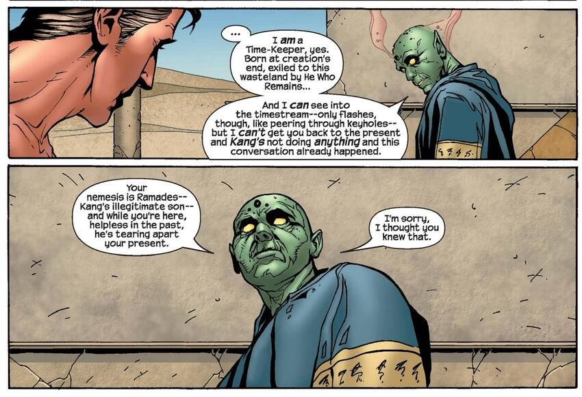 The Oracle of Siwa helps the Fantastic Four in 4 (2004) #16.