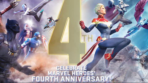 Image for 'Marvel Heroes' Turns Four