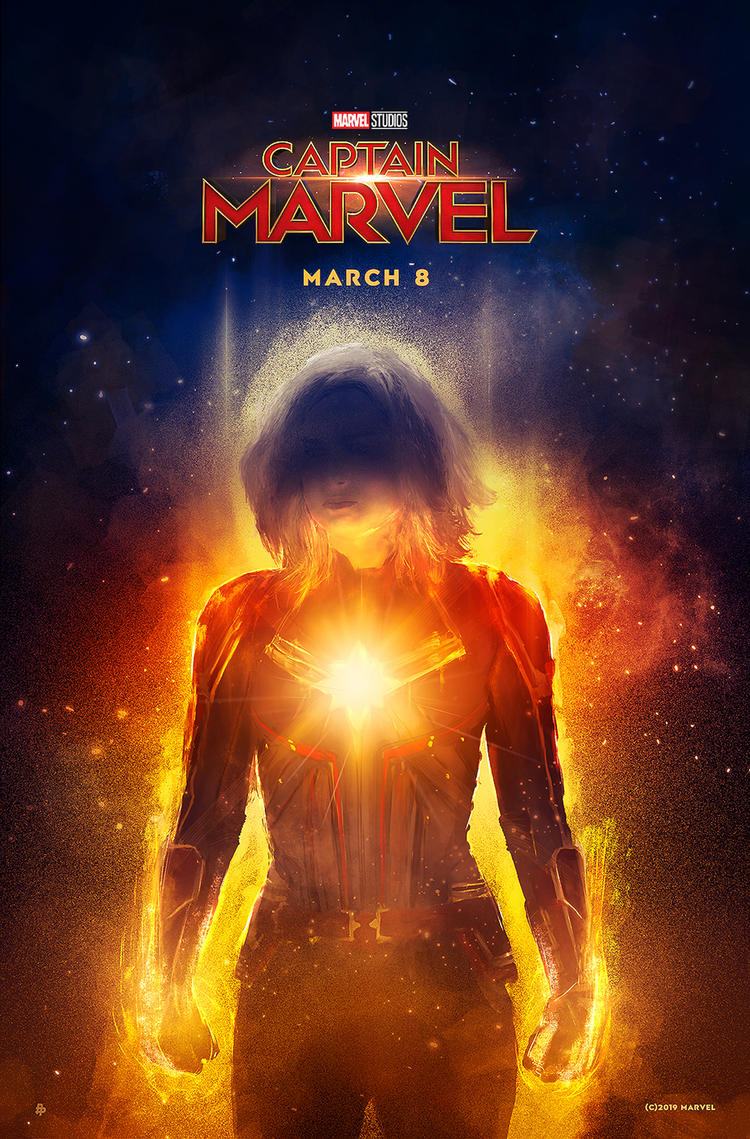 Captain Marvel Poster Art by Rafal Rola