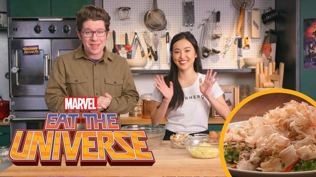 Eat the Universe: Episode 3 - Runaways-Inspired Okonomiyaki (ft. Lyrica Okano)