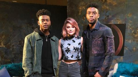Chadwick Boseman Sits Down with Marvel's Cloak & Dagger's Aubrey Joseph & Olivia Holt (Part 1)