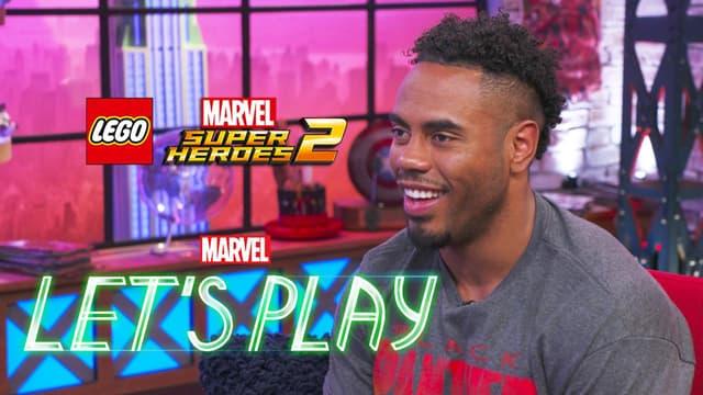 Rashad Jennings & Josh Play LEGO Marvel Super Heroes 2   Marvel Let's Play
