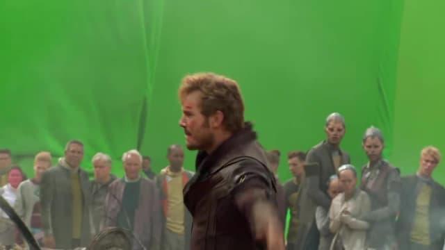 Marvel Studios' Guardians of the Galaxy | Chris Pratt at the Xandar Crash Site