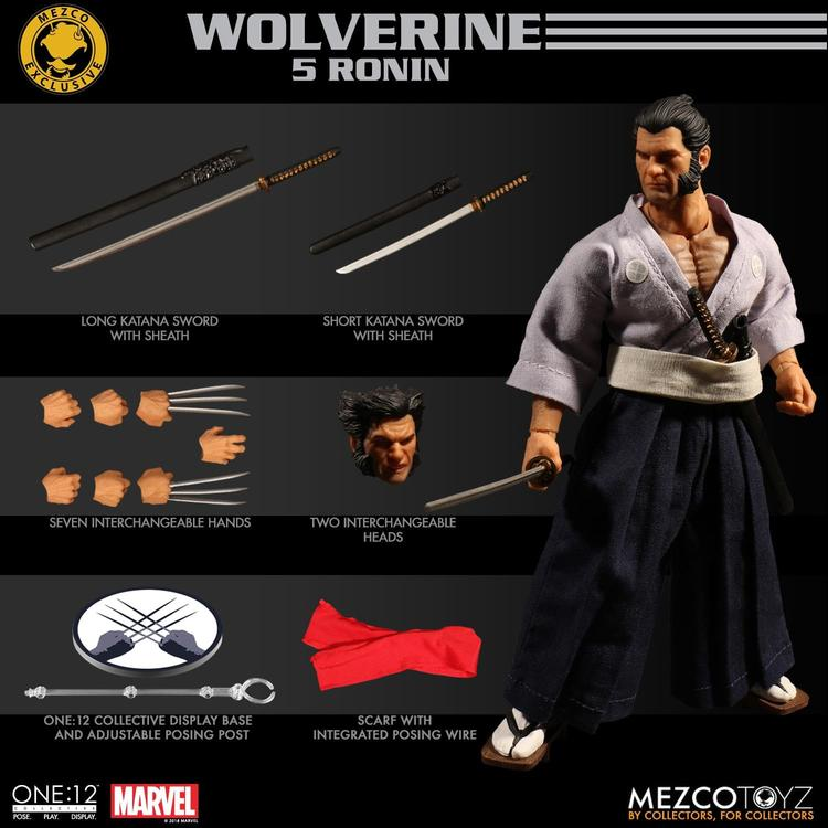 Mezco's One:12 Collective Wolverine 5 Ronin Figure