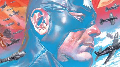 Captain America #1 art by Alex Ross
