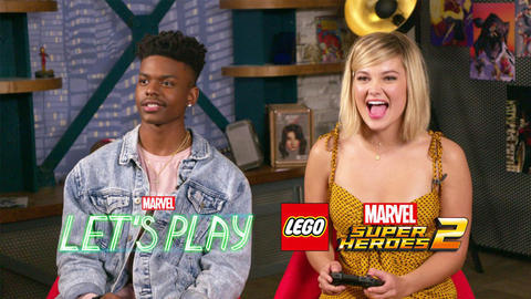 Image for Olivia Holt and Aubrey Joseph from Marvel's Cloak & Dagger Visit Marvel's Let's Play
