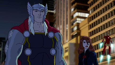 Image for Red Hulk Teams Up with the Avengers in a New Animated Clip