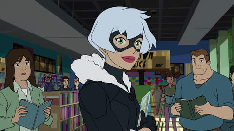 Image for Spider-Man Meets Black Cat in New Animated Clip