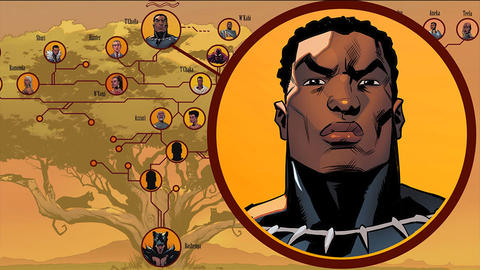 Image for The Black Panther Royal Family Tree