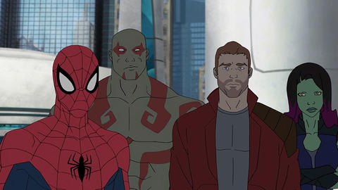 Image for It's Spider-Man, Symbiotes and Thanos in 'Marvel's Guardians of the Galaxy: Mission Breakout!'