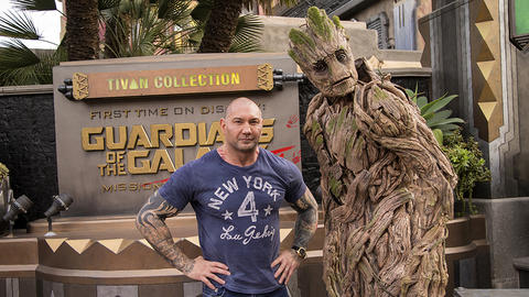 Image for Dave Bautista Visits Disney California Adventure Park's Guardians of the Galaxy – Mission: BREAKOUT!