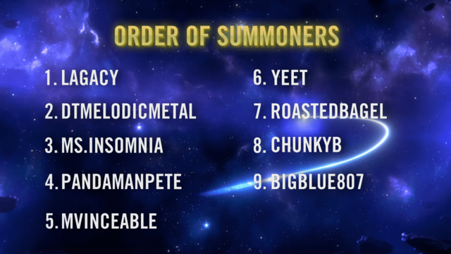 Summoner Showdown play order