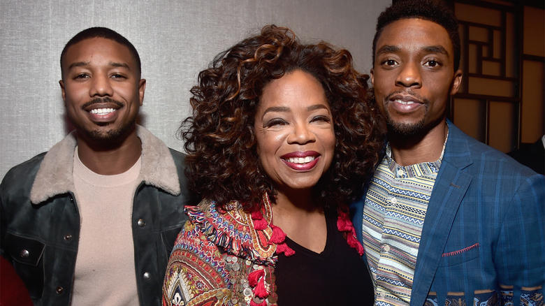 Michael B. Jordan, Oprah and Chadwick Boseman at 'Black Panther' Event