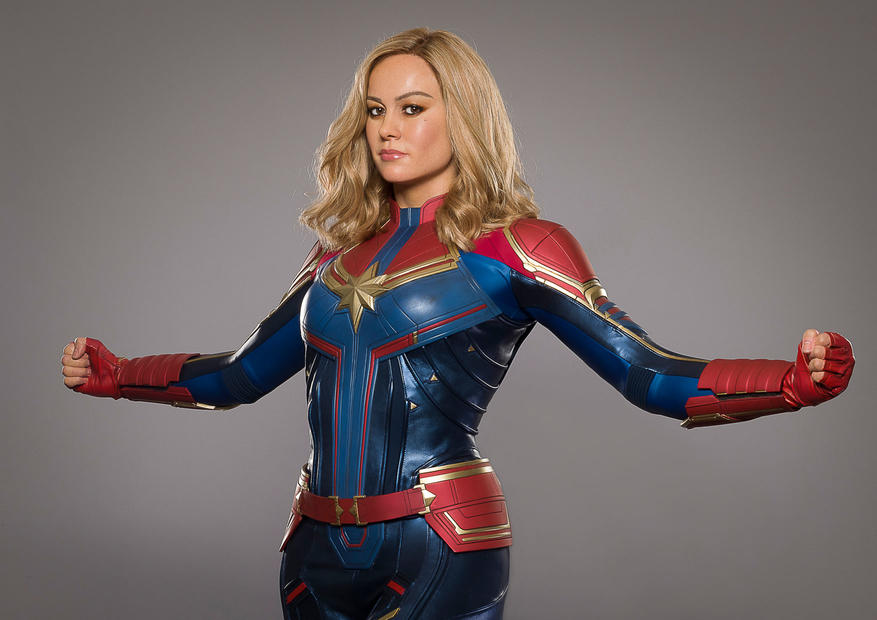 Madame Tussauds New York Welcomes Brie Larson as Captain Marvel