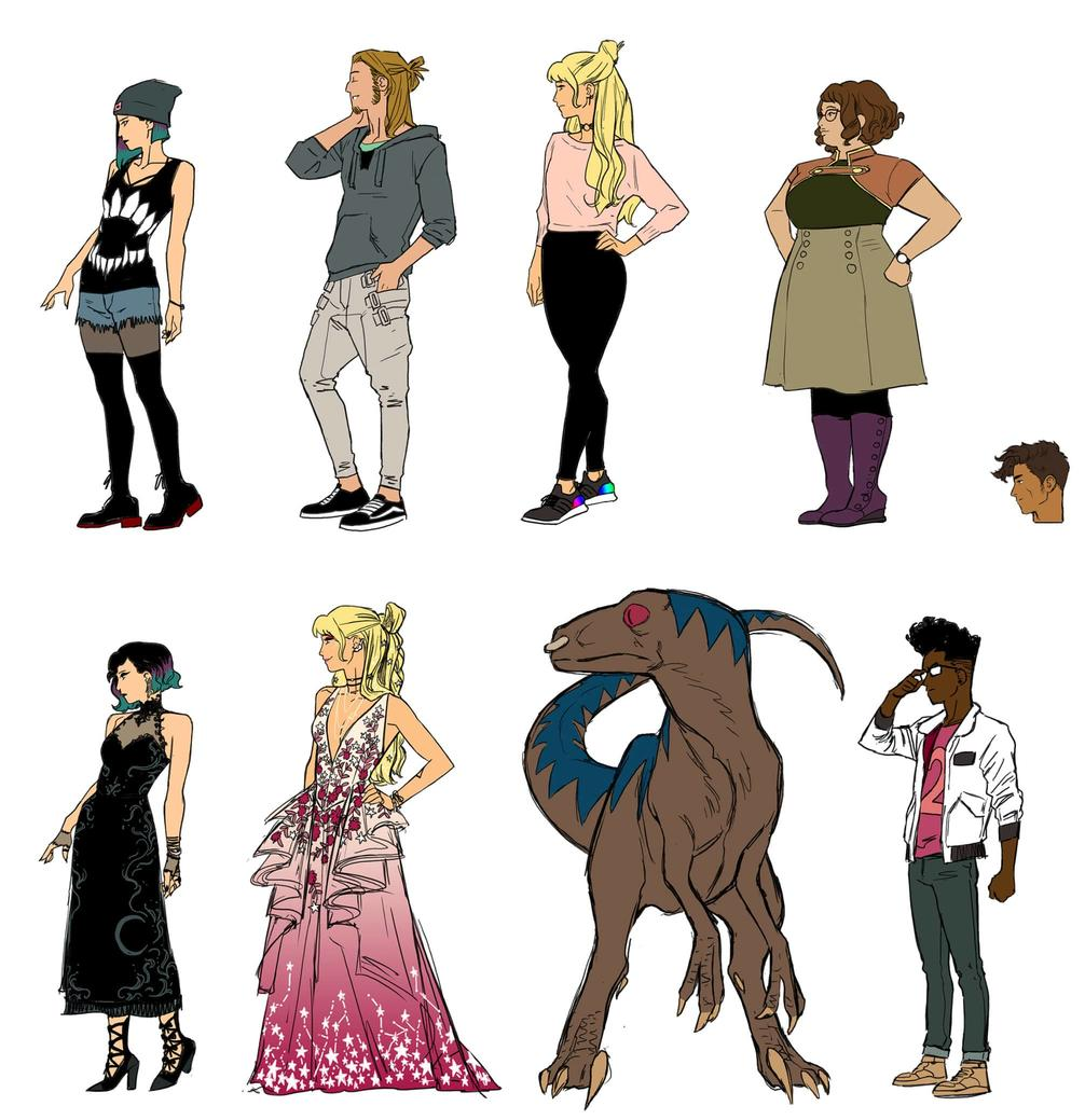 Kris Anka's sketches for Runaways