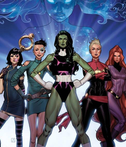 Cover to A-FORCE (2016) #1.