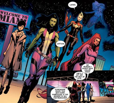 A-Force assembles in A-FORCE (2016) #2.