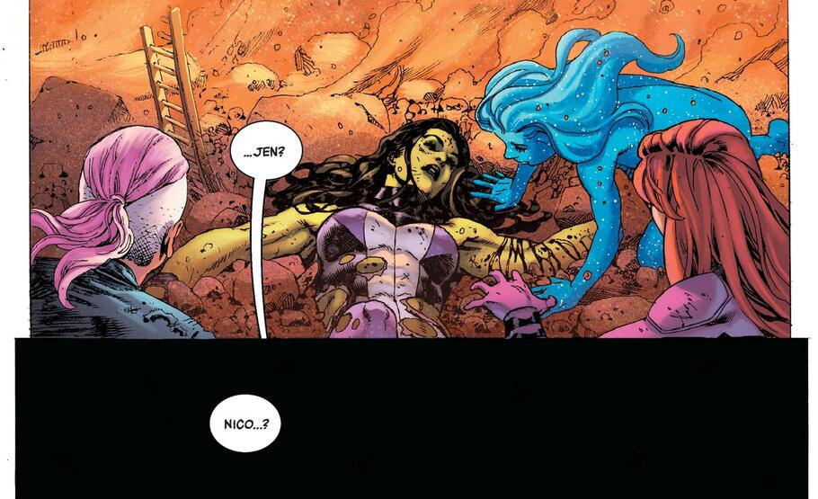 An aftershock to CIVIL WAR II in A-FORCE (2016) #8.