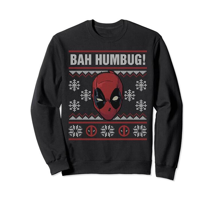Deadpool Bah Humbug Holiday Sweatshirt