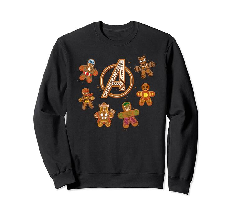 Avengers Gingerbread Cookies Holiday Sweatshirt