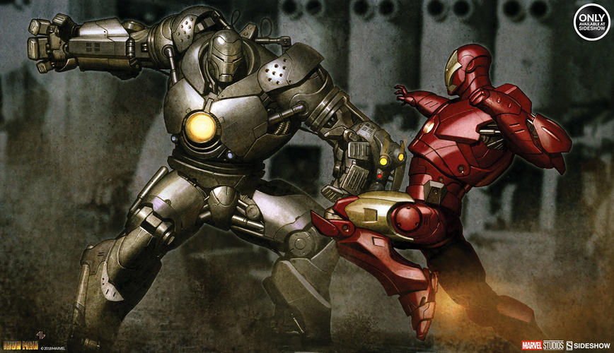 Iron Man Mark vs Iron Monger Fine Art Print by Sideshow