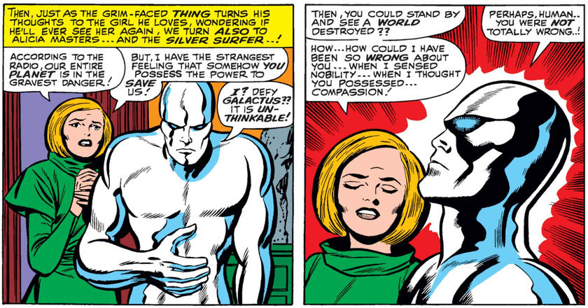 Alicia talks down the Silver Surfer