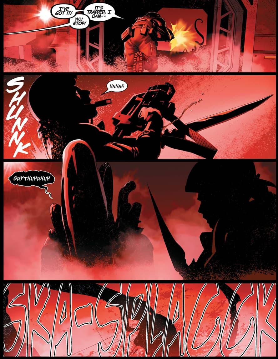 The aliens attack in ALIEN (2021) #2.