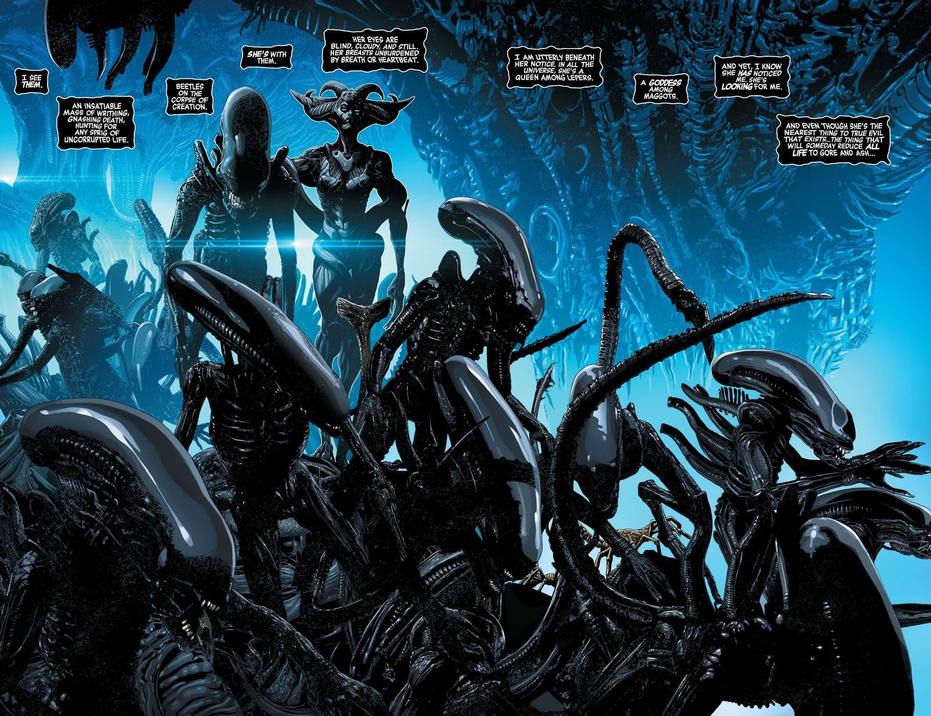 The Xenomorph swarm encroaches in Alien (2021) #1.