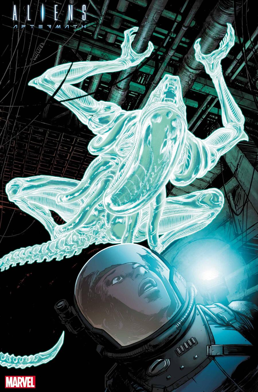 ALIENS: AFTERMATH #1 preview art byDave Wachterwith colors by Chris Sotomayor