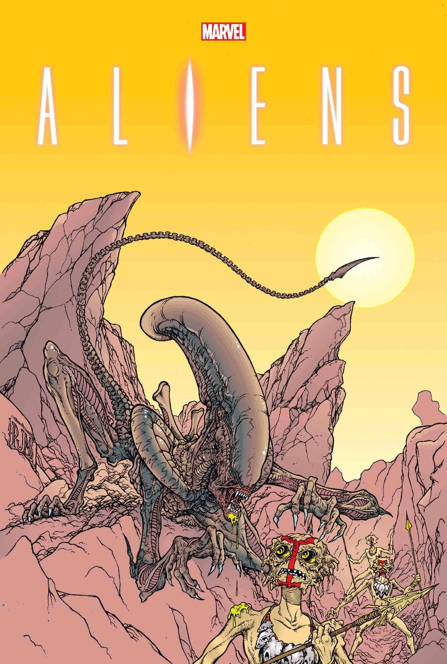 ALIENS: THE ORIGINAL YEARS OMNIBUS VOL. 2 direct market variant cover by Paul Mendoza