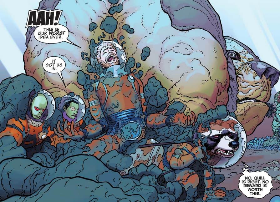 Guardians of the Galaxy poop heist