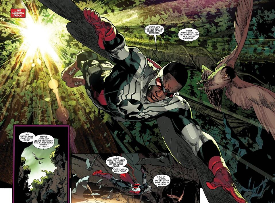 Sam soars high as Captain America!