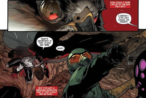 Sam's telepathic bond with Redwing in ALL-NEW CAPTAIN AMERICA (2014) #1.