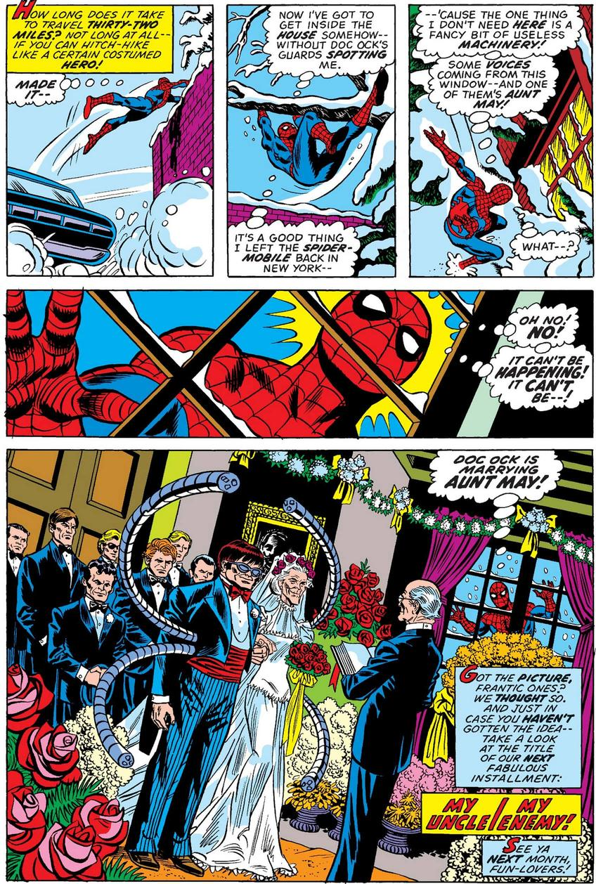 Spider-Man Aunt May marrying Doctor Octopus