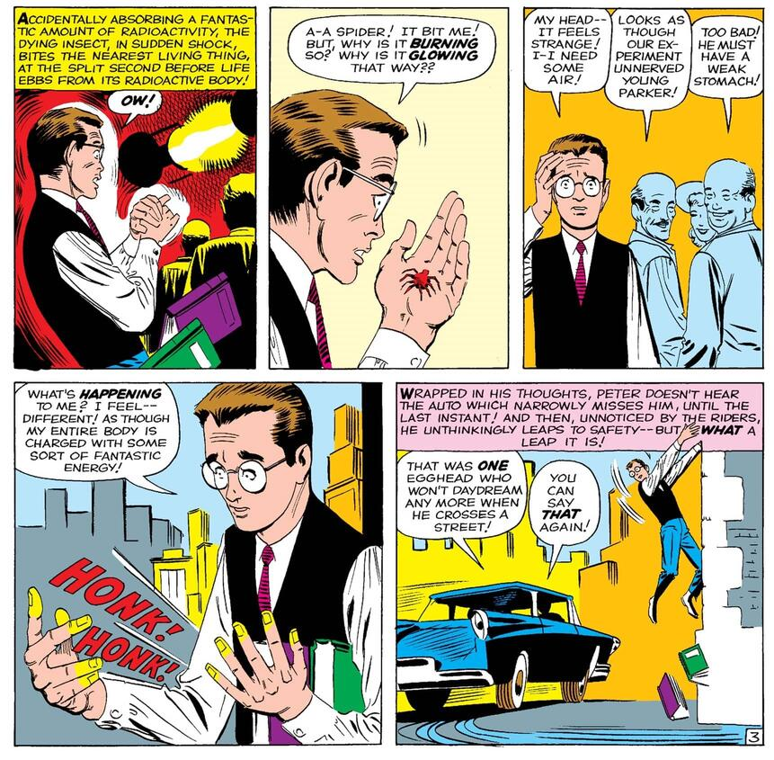 The first bite in AMAZING FANTASY (1962) #15!