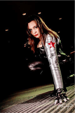 Amber Kersley as the Winter Soldier
