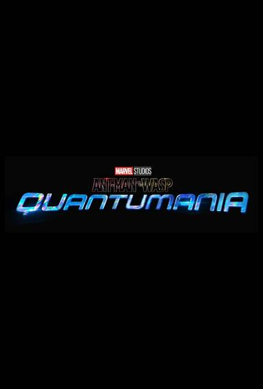 Marvel Studios Ant-Man and The Wasp: Quantumania Movie Logo on Black