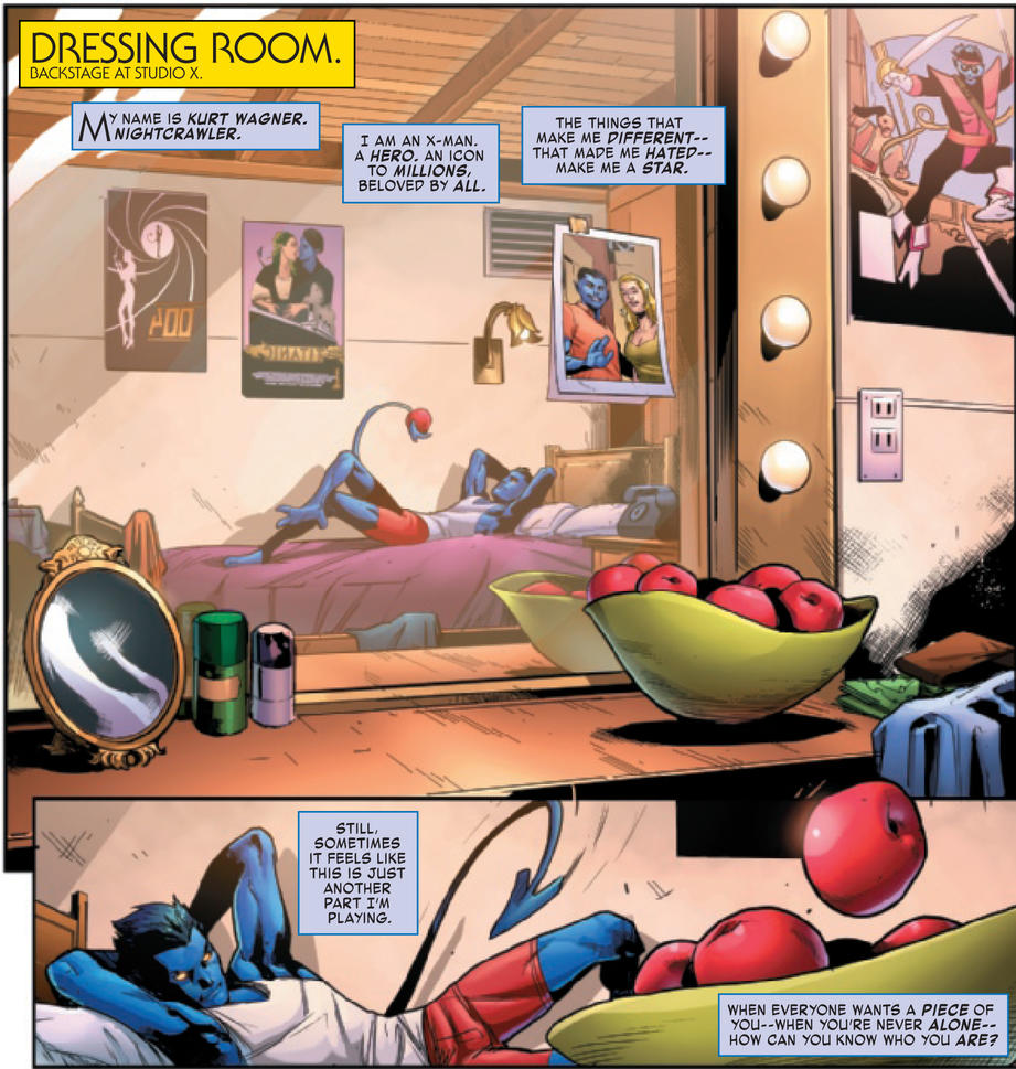 Nightcrawler in dressing room
