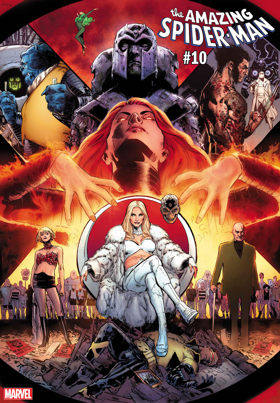 AMAZING SPIDER-MAN #10 / UNCANNY X-MEN VARIANT COVER by Phil Jimenez