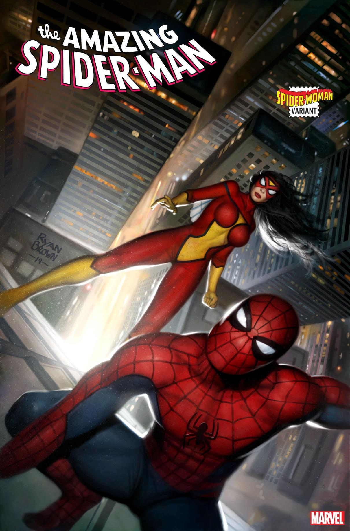 AMAZING SPIDER-MAN #41 SPIDER-WOMAN VARIANT by RYAN BROWN