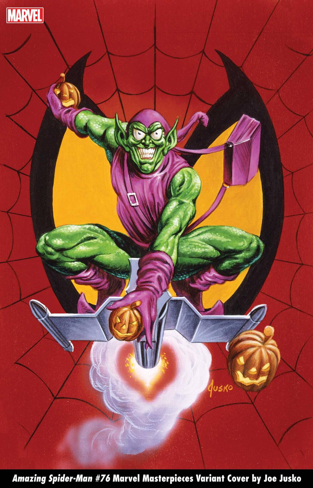 AMAZING SPIDER-MAN #76 MARVEL MASTERPIECES VARIANT COVER by JOE JUSKO