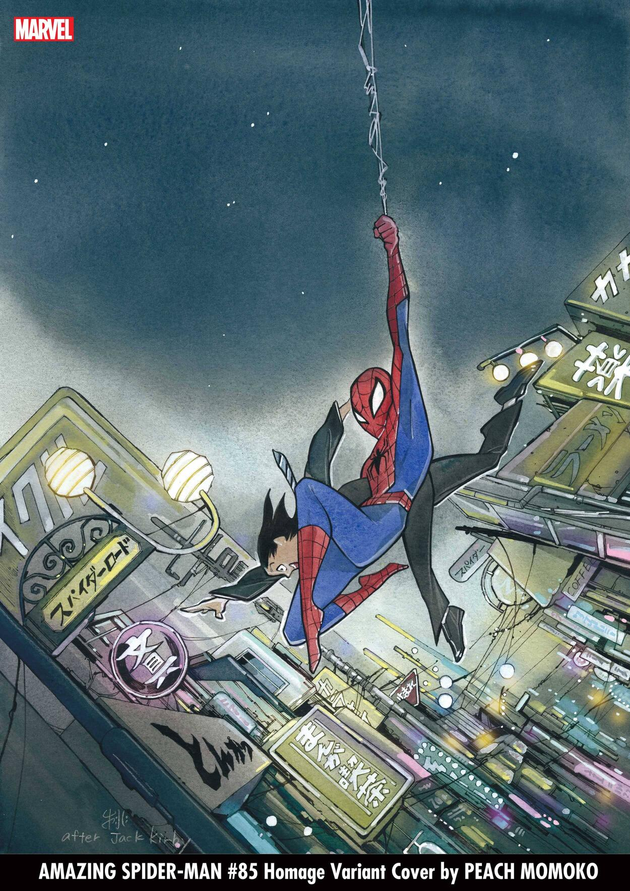 AMAZING SPIDER-MAN #85 Homage Variant Cover by PEACH MOMOKO